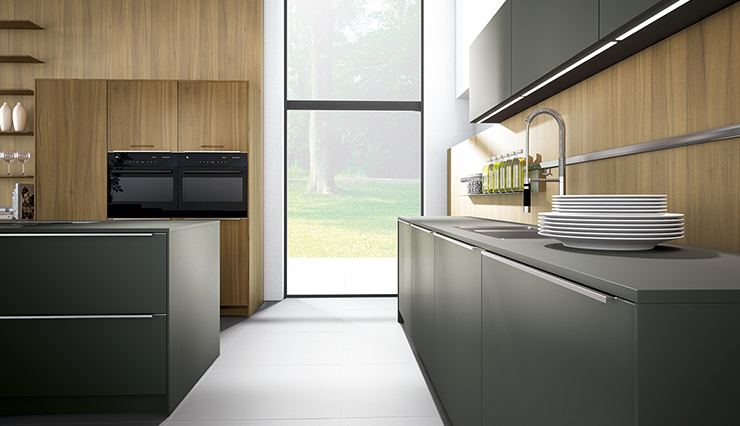 German pronorm kitchen green